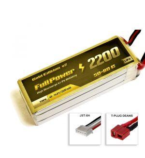 FullPower Batteria Lipo 4S 2200 mAh 50C Gold V2- DEANS