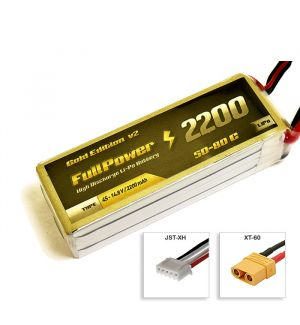 FullPower Batteria Lipo 4S 2200 mAh 50C Gold V2- XT60