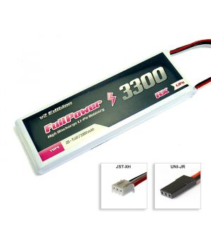 FullPower Batteria RX Lipo 2S 3300 mAh 35C V2 - JR