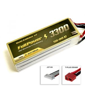 FullPower Batteria Lipo 6S 3300 mAh 50C Gold V2 - DEANS