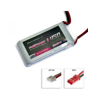 FullPower Batteria Lipo 2S 450 mAh35C Silver V2 - BEC