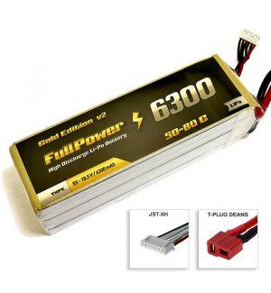 FullPower Batteria Lipo 5S 6300 mAh 50C Gold V2 - DEANS