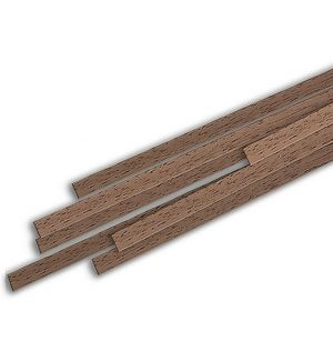 jWood Listello noce rettangolare 2x10x1000 mm