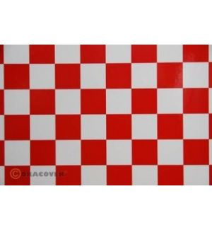 Oracover OraFUN3 scacchi 25x25 rosso bianco, 2 mt.