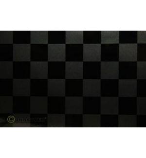 Oracover OraFUN3 grafiteperla/nero scacchi 25x25mm, 2 mt.