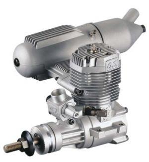 OS engines 65 AX 10,6 cc c/silenziat. Motore a scoppio 2T glow per aerei