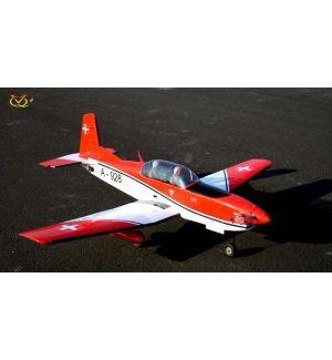 VQ Model Pilatus PC 7 (Swiss) / 1540mm Aeromodello riproduzione
