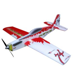 RC Factory Mustang (rosso) / 780 mm Aeromodello acrobatico