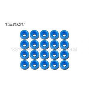 Tarot Rondelle ad incasso 2mm 20 pz blu