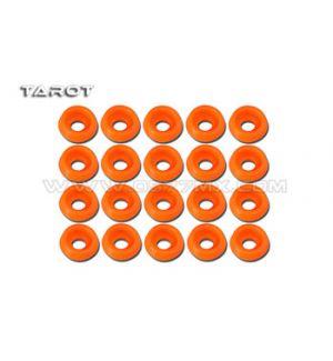Tarot Rondelle ad incasso 2mm 20 pz arancione
