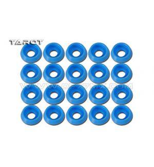 Tarot Rondelle ad incasso 3mm 20 pz blu