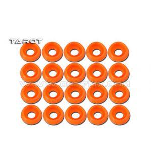 Tarot Rondelle ad incasso 3mm 20 pz arancione