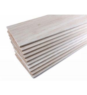 jWood Tavola balsa 12,0x100x1000 mm (1 pz)