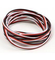 Robbe Cavo servi piatto 26awg-0,14mmq (nero/rosso/bianco), 10 mt