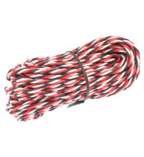 Robbe Cavo servi trecciato 22awg-0,35mmq (nero/rosso/bianco), 5 mt