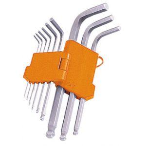 Valex Serie 9 chiavi esagonali BALL-POINT 1,5-10 mm