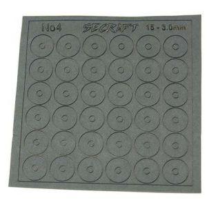 Secraft Rondelle in gomma 3,5x14,5mm - 36pz