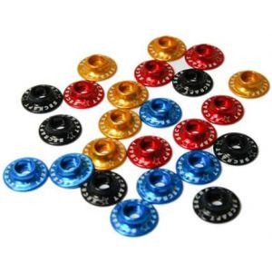 Secraft Rondelle coniche per testa cilindrica 3,5x15mm BLU - 6 pz