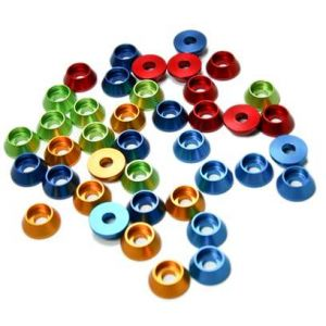 Secraft Rondelle coniche per testa cilindrica 4,5x12mm NERE - 12 pz