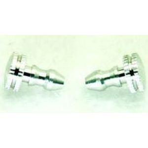 Secraft Tappi alluminio rifornimento e sfiato ARGENTO 2 pz.