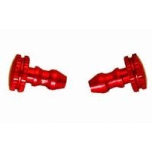 Secraft Tappi alluminio rifornimento e sfiato ROSSI 2 pz.