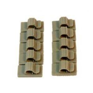 Secraft Fermacavi adesivi 6mm per cavi e tubi 10pz