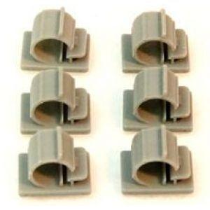 Secraft Fermacavi adesivi 10mm per cavi e tubi 6pz