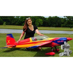 Extreme Flight Extra 300 85 Rosso/Giallo/Blu ARF - 216 cm + DLE 55 - Aeromodello acrobatico