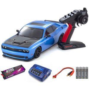 Kyosho Fazer MK2 Dodge Challenger SRT HELLCAT 1:10 Readyset Automodello elettrico SUPER COMBO FP
