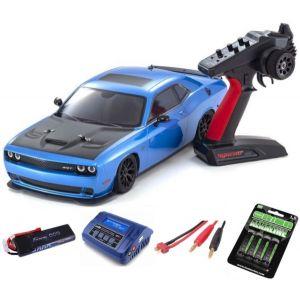 Kyosho Fazer MK2 Dodge Challenger SRT HELLCAT 1:10 Readyset Automodello elettrico SUPER COMBO