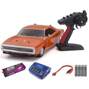 Kyosho Fazer MK2 Dodge Charger 1970 1:10 Readyset Automodello elettrico SUPER COMBO FP HC