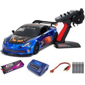 Kyosho Fazer MK2 Alpine GT4 1:10 Readyset Automodello elettrico SUPER COMBO FP