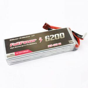 FullPower Batteria Lipo 5S 6200 mAh 35C Silver V2 - DEANS