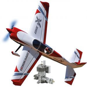 Extreme Flight Edge 540 85 Rosso/Bianco ARF 216 cm + DLE 55 - Aeromodello acrobatico