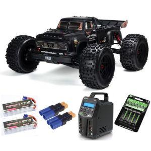 Arrma NOTORIOUS™ 6S BLX 1/8 StuntTruck 4WD RTR V5 Black SUPER COMBO 6S FP