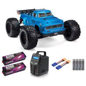 Arrma NOTORIOUS™ 6S V5 BLX 1/8 StuntTruck 4WD RTR Blu SUPER COMBO 6S FP HC