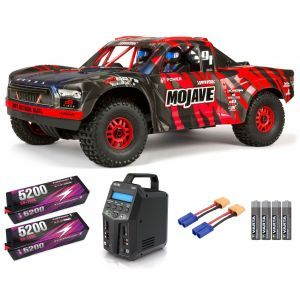 Arrma MOJAVE™ 6S V2 BLX 1/7 Brushless 4WD Desert Truck RTR Red/Black SUPER COMBO 6S FP HC