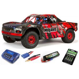 Arrma MOJAVE™ 6S V2 BLX 1/7 Brushless 4WD Desert Truck RTR Red/Black SUPER COMBO 4S