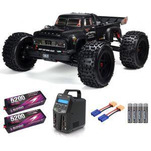 Arrma NOTORIOUS™ 6S V5 BLX 1/8 StuntTruck 4WD RTR Black SUPER COMBO 6S FP HC