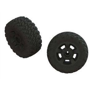 Arrma 1/8 dBoots RAGNAROK MT Front/Rear 2.8 Pre-Mounted Tires, 14mm Hex, Black (2) - ARA550052