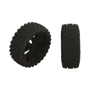 Arrma Dboots '2HO' Tire Set Glued Gun Metal (2) - ARA550088
