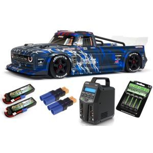 Arrma INFRACTION 1/7 6S BLX All-Road Truck RTR, Blue SUPER COMBO 6S