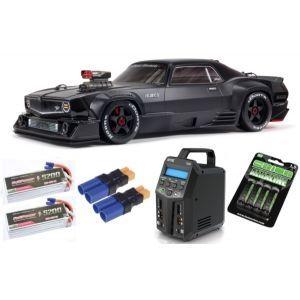 Arrma FELONY 1/7 6S BLX Street Bash All-Road Muscle Car RTR, Black SUPER COMBO 6S FP