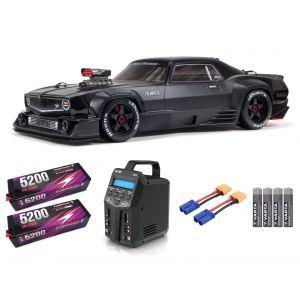 Arrma FELONY 1/7 6S BLX Street Bash All-Road Muscle Car RTR, Black SUPER COMBO FP HC