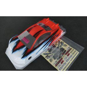 Bittydesign Carrozzeria 1/10 JP8HR 190mm Ultra Lite Colorazione MISTRAL RED