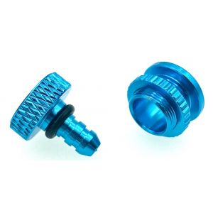 aXes Tappo rifornimento in alluminio BLU