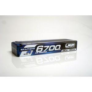 LRP Batteria Lipo GRAPHENE-4 2S 6700mAh 7.6V High Voltage 60/120C HardCase