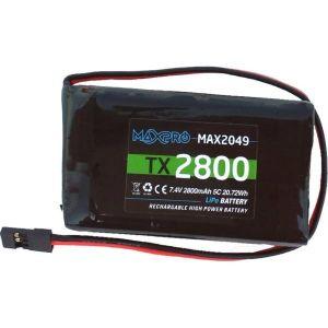 MaxPro Batteria Li-Po 5C 7,4V 2800mAh per Trasmettitori Futaba