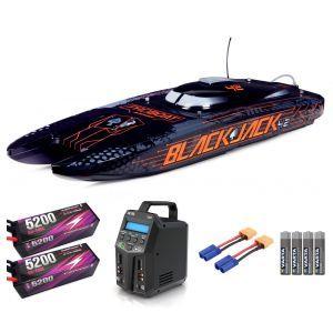 ProBoat Blackjack 42 8S Brushless Black/Orange Barca elettrica Catamarano SUPER COMBO