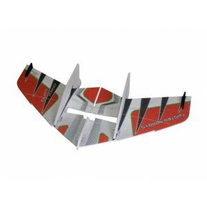 RC Factory Crack WING ROSSO Aeromodello tuttala elettrico